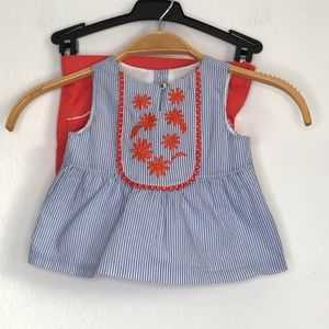 Janie and Jack 12-18 top 2T shorts set